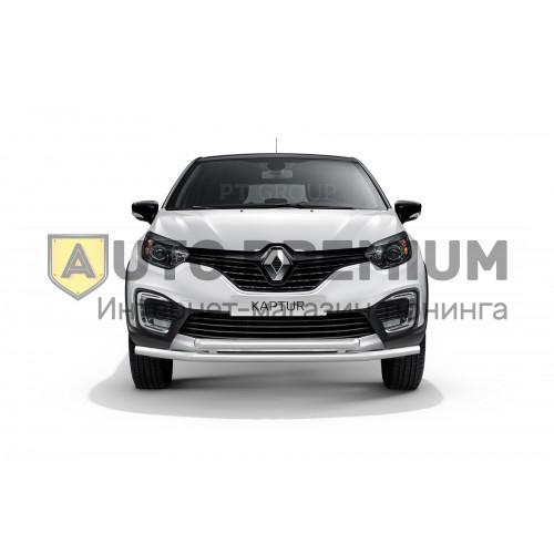 Защита переднего бампера двойная Ø63/63 мм (НПС) на Renault KAPTUR с 2016